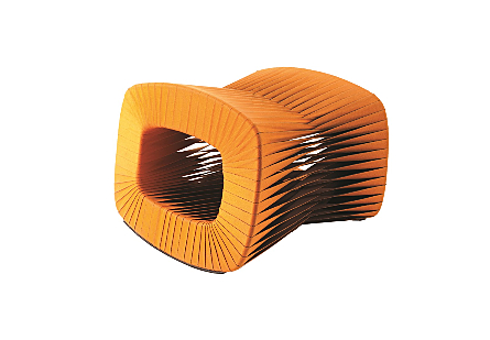 Seat Belt Ottoman Orange