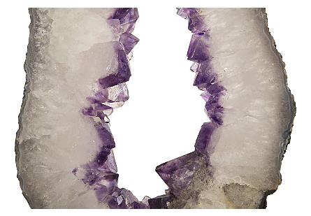 Amethyst Slice on Wood Stand