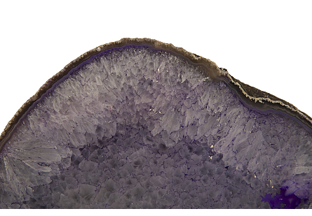 Agate Tabletop Sculpture Dyed Purple, Assorted