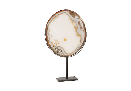 Agate Plate on Stand LG, Assorted