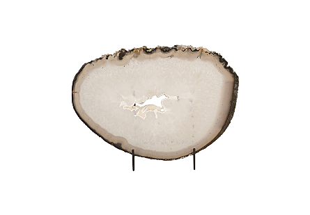 Agate Slab on Stand SM, Assorted