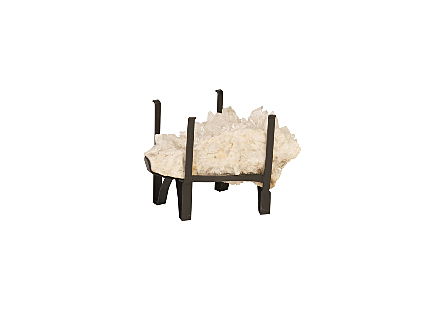 White Quartz Crystal Coffee Table