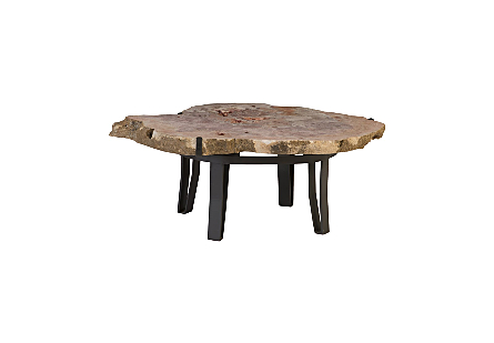 Amethyst Coffee Table Iron Base