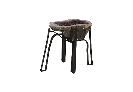 Amethyst Coffee Table Iron Base, Assorted