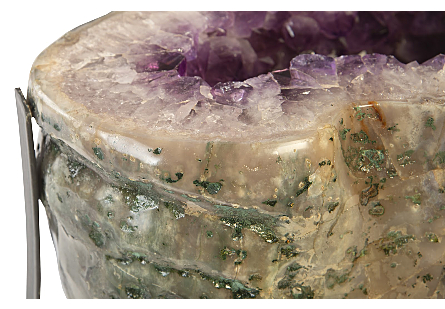 Amethyst Coffee Table Metal Base