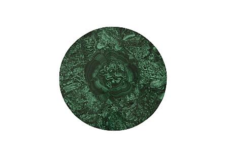 Malachite Stone Side Table Round, SM