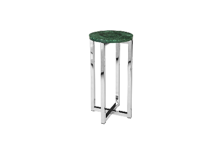 Malachite Stone Side Table Round, SM