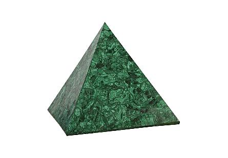 Malachite Pyramid Polished