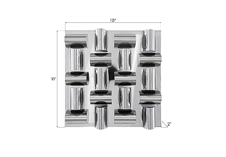 Arete Wall Tile Stainless Steel