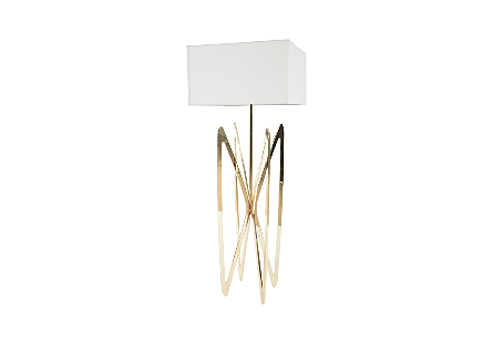 Butterfly Floor Lamp Plated Brass Finish
