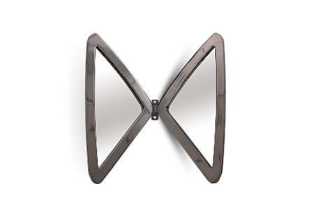 Butterfly Mirror Plated Black Nickel