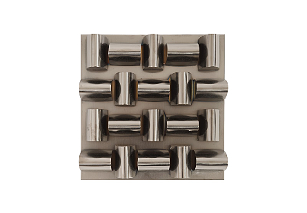 Arete Wall Tile Plated Black Nickel Finish