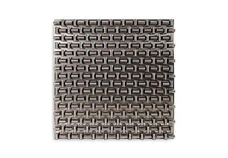 Arete Wall Panel Square, Stainless Steel