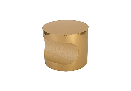 Bite End Table Plated Brass Finish