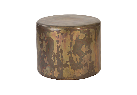 Button End Table Posh Finish