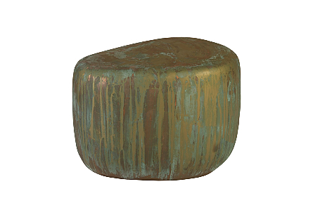 Wedge End Table Lichen Finish