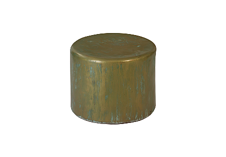 Button End Table Lichen Finish