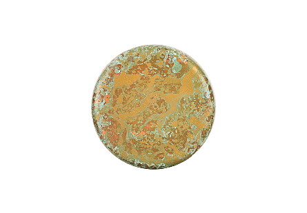 Button Wall Tile Shallow, Lichen Finish, SM