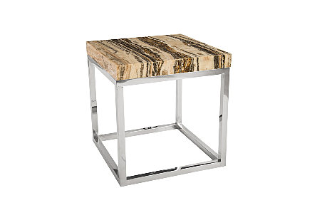 Onyx Side Table Stainless Steel