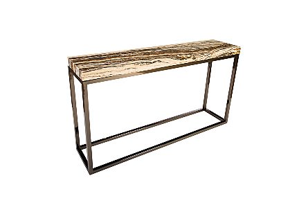 Onyx Console Table Stainless Steel