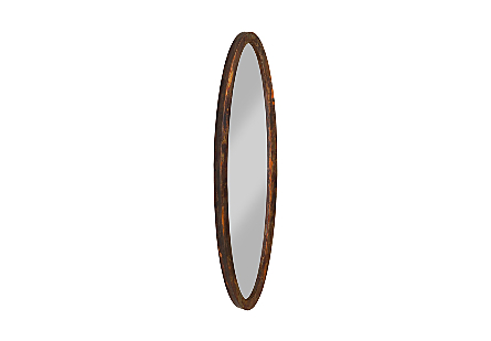 Elliptical Oval Mirror Small, Posh