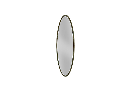 Elliptical Oval Mirror Large, Lichen