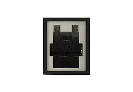 Armor Vest Wall Art  Plated Black Nickel, w/LED