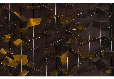 Flicker Wall Art Rectangle, Black/Gold