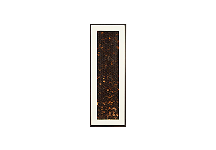 Flicker Wall Art Rectangle, Black/Copper