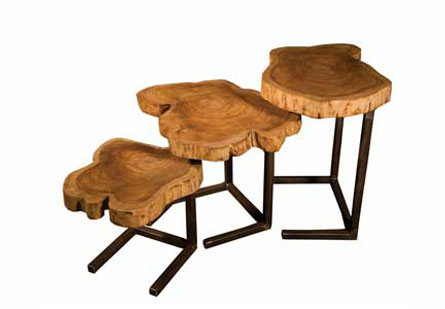 Nesting Tables, Natural Set of 3
