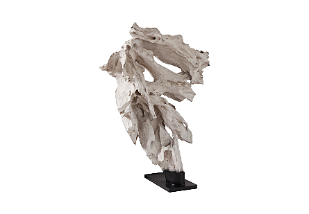 Bleached Wood Sculpture on stand