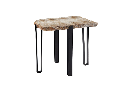 Onyx Side Table Metal Base