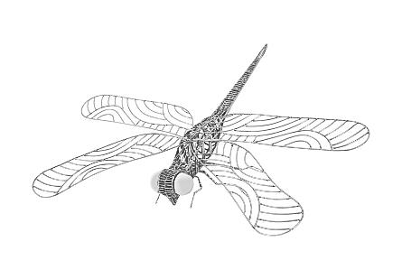 Dragonfly Sculpture Metal
