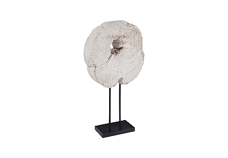 Eroded Wood Circle on Stand