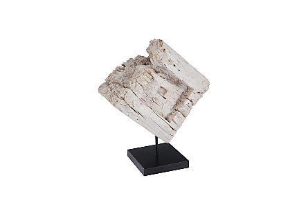 Eroded Wood Block on Stand, Assorted