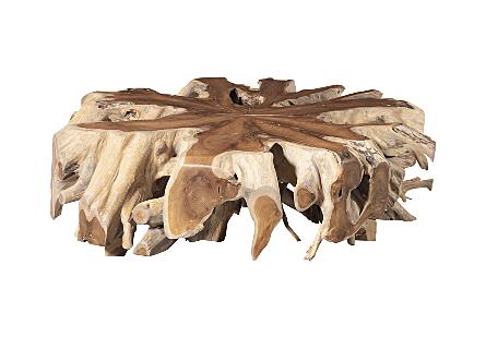 Teak Wood Coffee Table Round