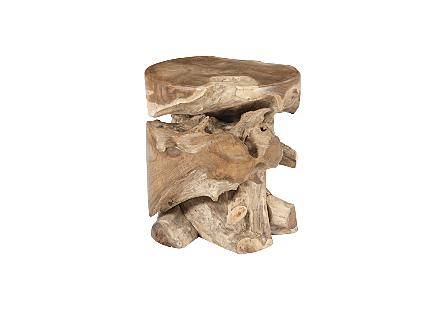 Teak Wood Stool Round