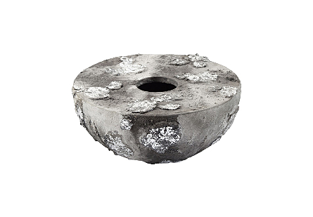 Lava Stone Flat Short Vase
