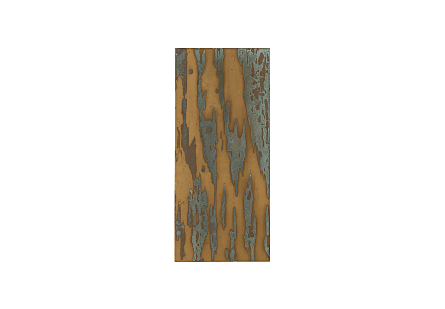 Abstract Copper Patina Wall Art