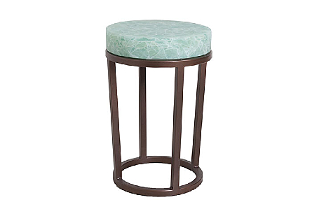 Folded Glass Side Table Round