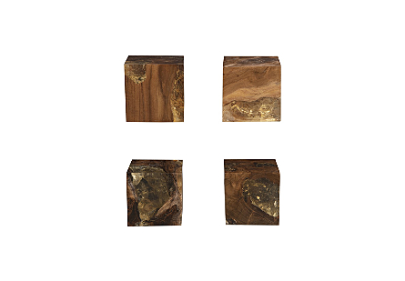Glitz Wall Cube Wall Tile, Set of 4