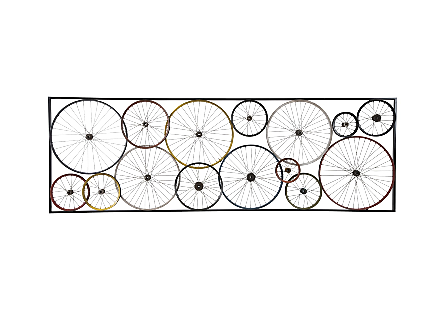 Bicycle Wheel Wall Art Assorted