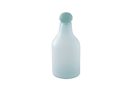 Frosted Glass Bottle Medium