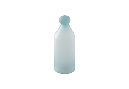Frosted Glass Bottle Small
