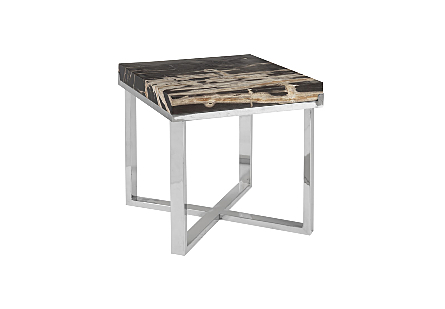 Petrified Wood Coffee Table Square, Assorted