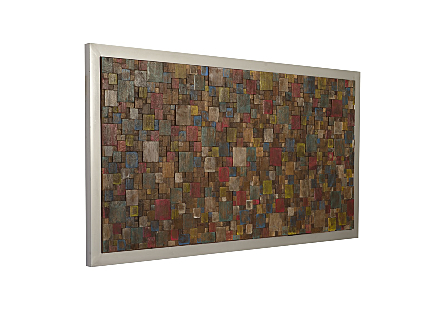 Puzzle Wall Art Rectangle, Bright Assorted Colors