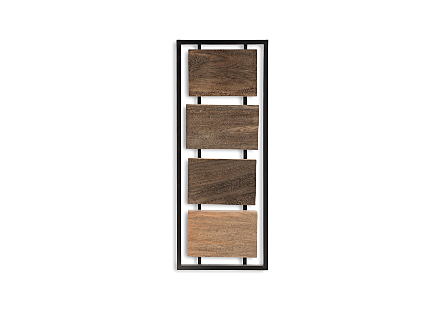 Mixed Wood Wall Panel