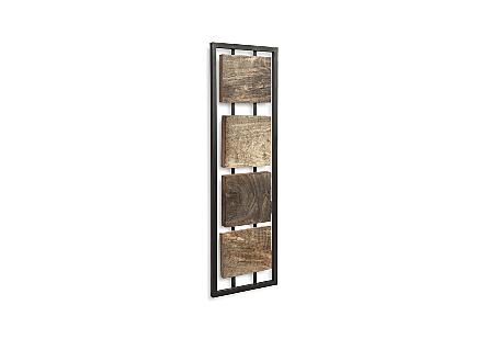 Mixed Wood Wall Panel