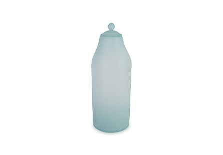 Frosted Glass Bottle Large