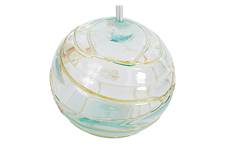 Blown Glass Hanging Globe, Shade Only  Assorted Colors, LG